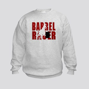 BARREL RACER [maroon] Kids Sweatshirt